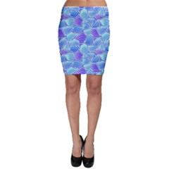 Blue And Purple Glowing Bodycon Skirt