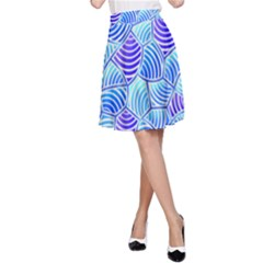 Blue And Purple Glowing A-Line Skirt
