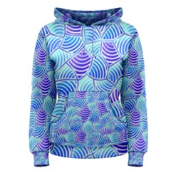 Blue And Purple Glowing Women s Pullover Hoodie