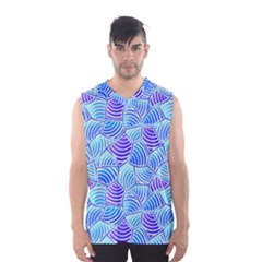 Blue And Purple Glowing Men s Basketball Tank Top
