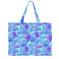 Blue And Purple Glowing Large Tote Bag