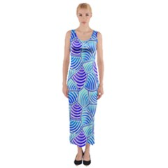 Blue And Purple Glowing Fitted Maxi Dress