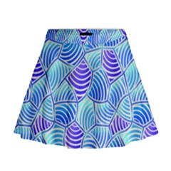 Blue And Purple Glowing Mini Flare Skirt