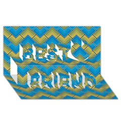 Blue And Yellow Best Friends 3D Greeting Card (8x4)