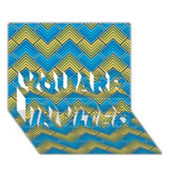Blue And Yellow YOU ARE INVITED 3D Greeting Card (7x5)