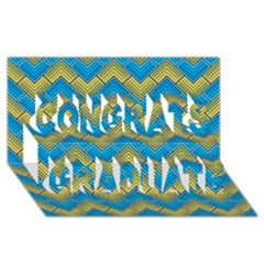 Blue And Yellow Congrats Graduate 3D Greeting Card (8x4)
