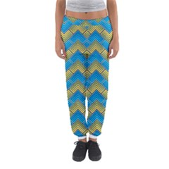 Blue And Yellow Women s Jogger Sweatpants