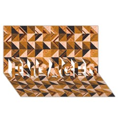 Brown Tiles ENGAGED 3D Greeting Card (8x4)