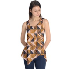 Brown Tiles Sleeveless Tunic
