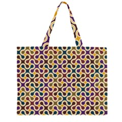 Funky Reg Zipper Large Tote Bag