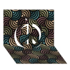 Glowing Abstract Peace Sign 3D Greeting Card (7x5)