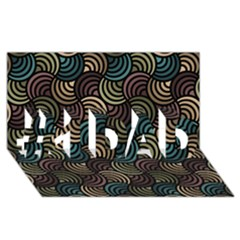 Glowing Abstract #1 DAD 3D Greeting Card (8x4)