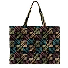 Glowing Abstract Zipper Large Tote Bag