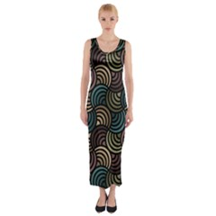 Glowing Abstract Fitted Maxi Dress