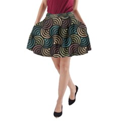 Glowing Abstract A Line Pocket Skirt