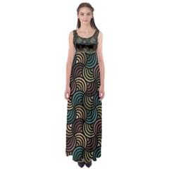 Glowing Abstract Empire Waist Maxi Dress