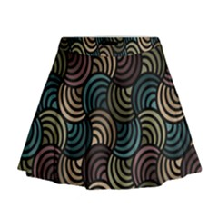 Glowing Abstract Mini Flare Skirt
