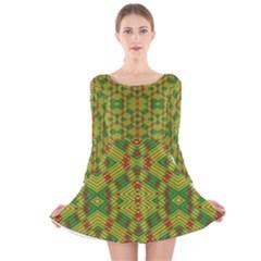 Flash Long Sleeve Velvet Skater Dress