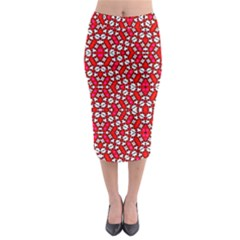 On Line Midi Pencil Skirt