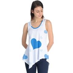 blue hearts Sleeveless Tunic