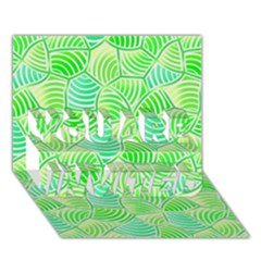 Green Glowing YOU ARE INVITED 3D Greeting Card (7x5)