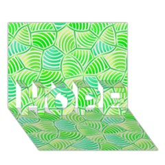 Green Glowing HOPE 3D Greeting Card (7x5)