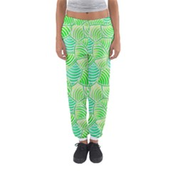 Green Glowing Women s Jogger Sweatpants