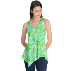 Green Glowing Sleeveless Tunic