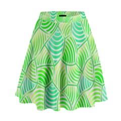 Green Glowing High Waist Skirt