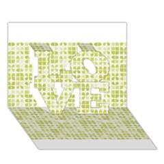 Pastel Green LOVE 3D Greeting Card (7x5)