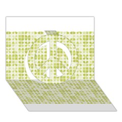 Pastel Green Peace Sign 3d Greeting Card (7x5)