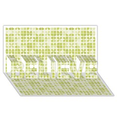 Pastel Green Believe 3d Greeting Card (8x4)