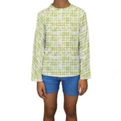 Pastel Green Kid s Long Sleeve Swimwear