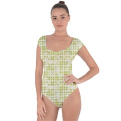 Pastel Green Short Sleeve Leotard (ladies)
