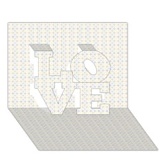 Pastel Pattern LOVE 3D Greeting Card (7x5)