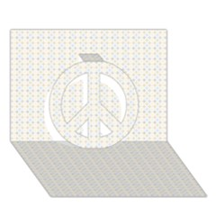 Pastel Pattern Peace Sign 3D Greeting Card (7x5)