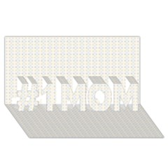 Pastel Pattern #1 Mom 3d Greeting Cards (8x4)