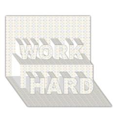 Pastel Pattern Work Hard 3d Greeting Card (7x5)