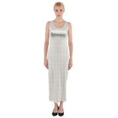 Pastel Pattern Fitted Maxi Dress
