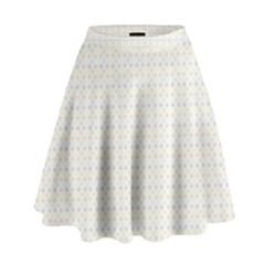 Pastel Pattern High Waist Skirt