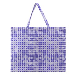 Pastel Purple Zipper Large Tote Bag