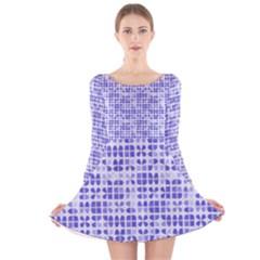 Pastel Purple Long Sleeve Velvet Skater Dress