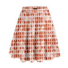 Pastel Red High Waist Skirt
