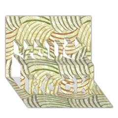 Pastel Sketch You Rock 3D Greeting Card (7x5)