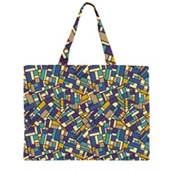 Pastel Tiles Large Tote Bag