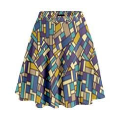 Pastel Tiles High Waist Skirt