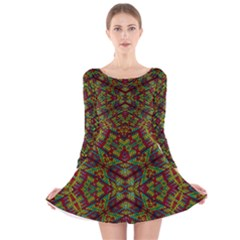 FIVE SEVEN NINE Long Sleeve Velvet Skater Dress