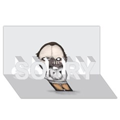 Dr  Lecter Sorry 3d Greeting Card (8x4)