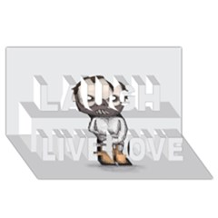 Dr. Lecter Laugh Live Love 3D Greeting Card (8x4)