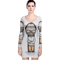 Dr. Lecter Long Sleeve Velvet Bodycon Dress